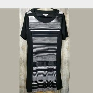 Liz ClairborneBlack and white stretch dress large